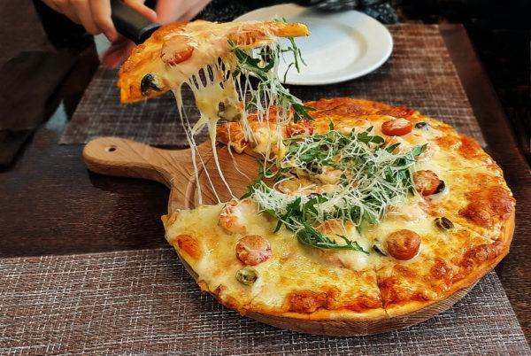 Пицца Руккола с креветками